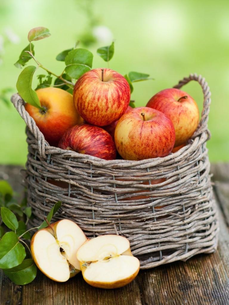 Gala Apples In A Basket