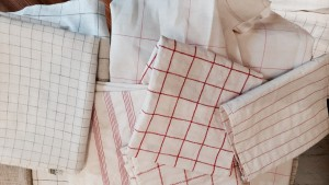 A Plethora of Dish Towels! Hand Sewn Vintage Tea Towels for a Friend who Loves to Bake!