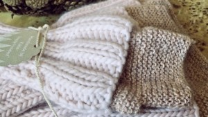 Matching Cowl Neck Warmer and Hand Warmers