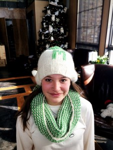 My Niece Madison Wearing Her Garter Gaiter And Monogrammed Hat