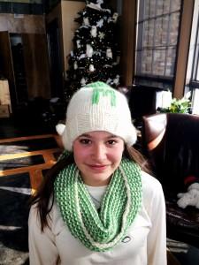 My Niece Madison Wearing Her Garter Gaiter And Monogrammed Hat