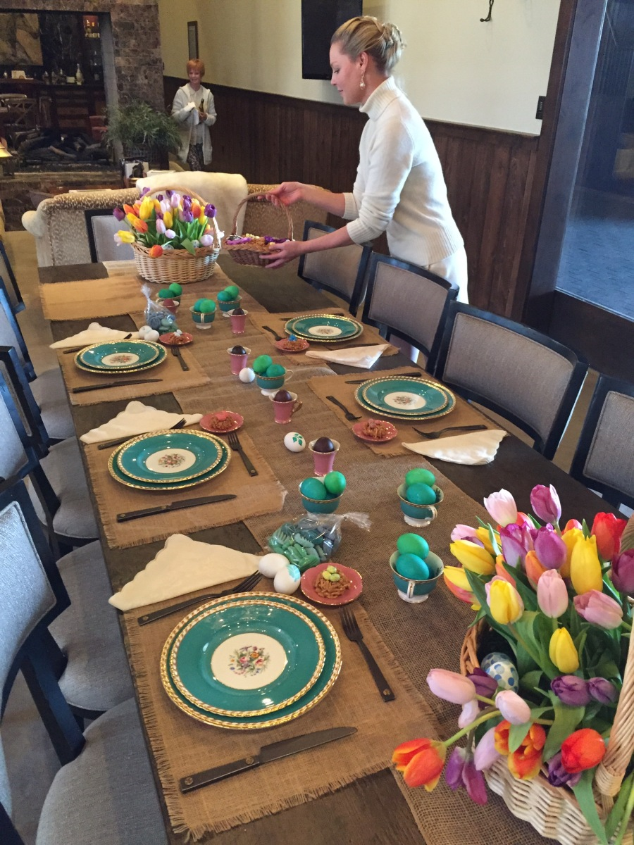 Dressing the Table for Easter Dinner