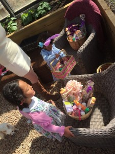 Naleigh and Adalaide with their Easter Baskets