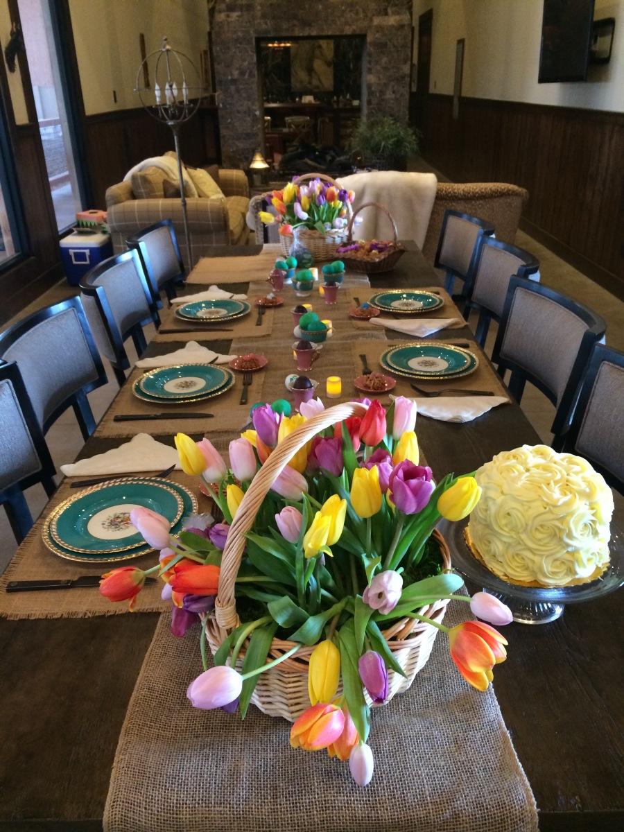 Easter Table at the Ranch