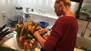Katherine Heigl Arranging Flowers