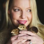 Katherine Heigl Holding Chicks