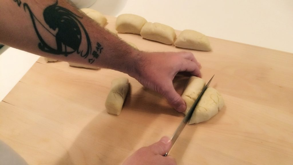 Josh Kelley Preparing Pretzel Bites