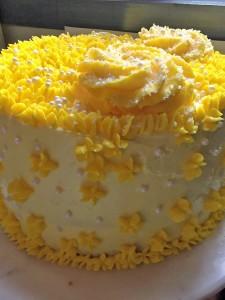 Adalaide's Yellow Birthday Cake