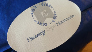 Josh came up with Heavenly Days Handmade. It's got a nice ring to it, right?