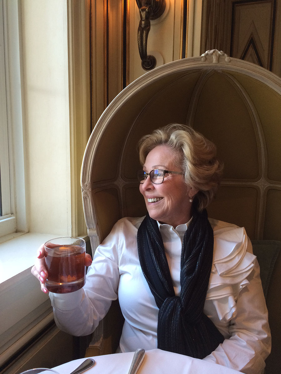 Nancy toasting our Bergdorf Mother's Day!
