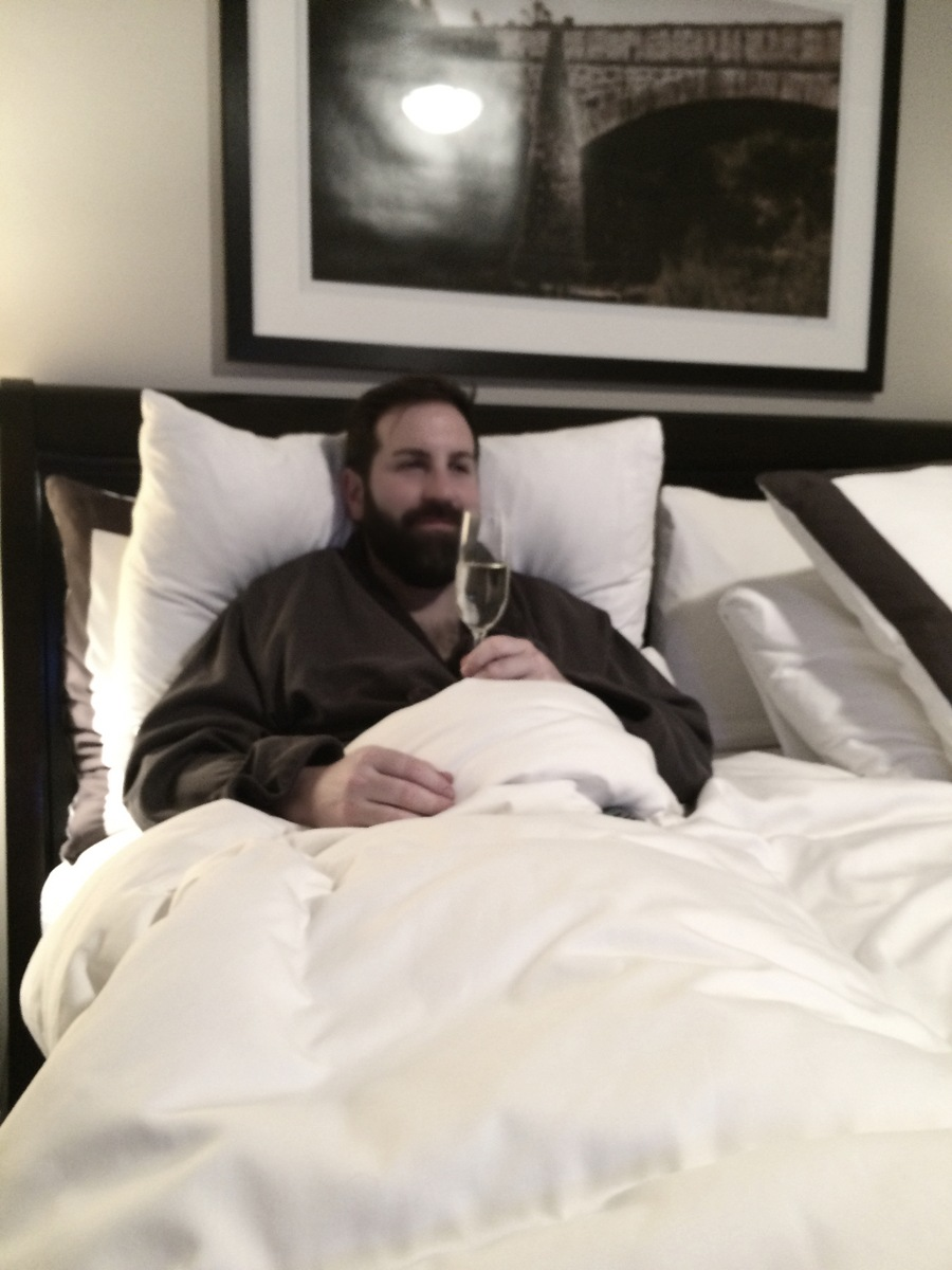 Josh Kelley's Champagne In Bed