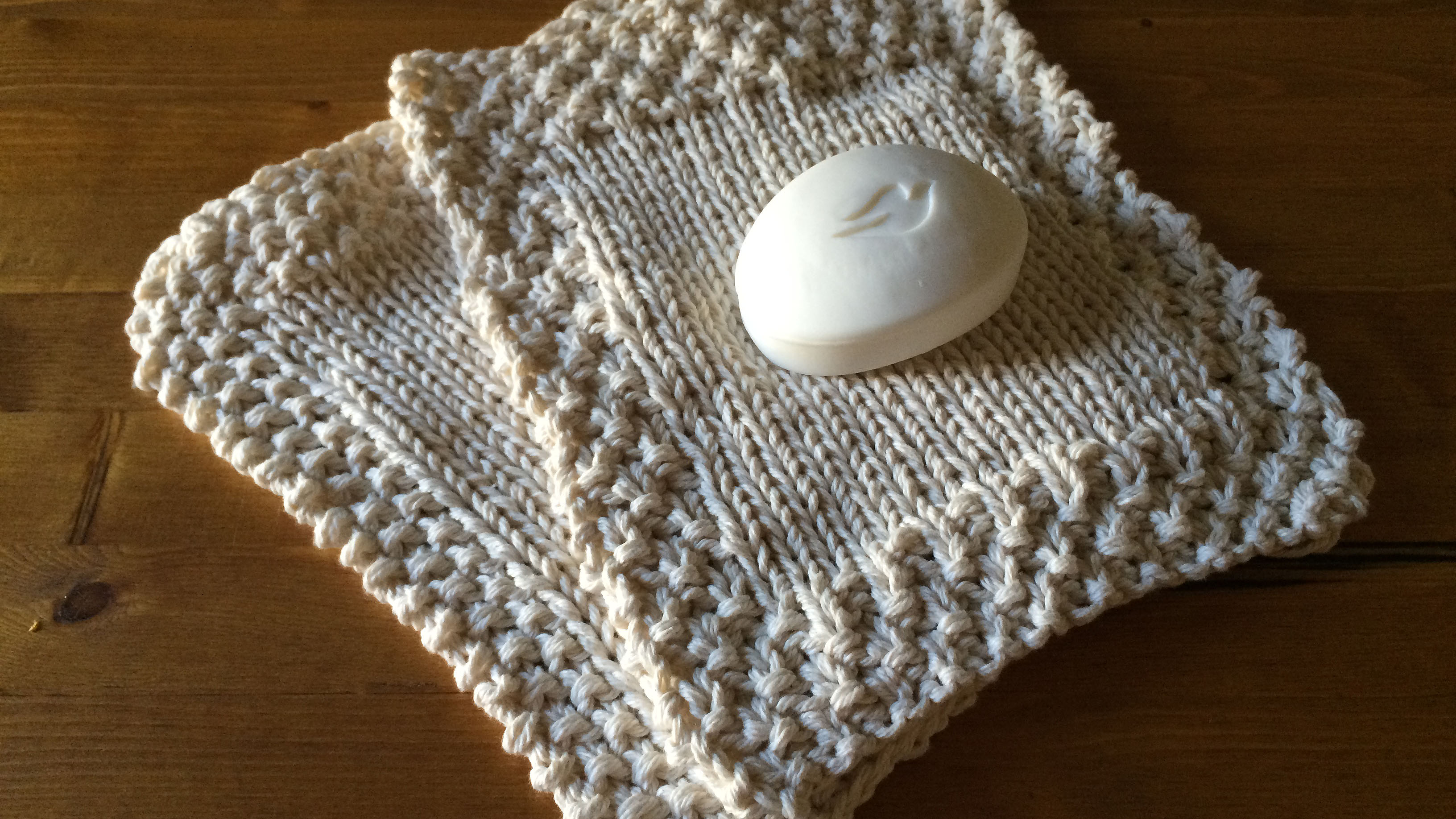 Neutral knit wash cloths that will look beautiful in any bathroom.