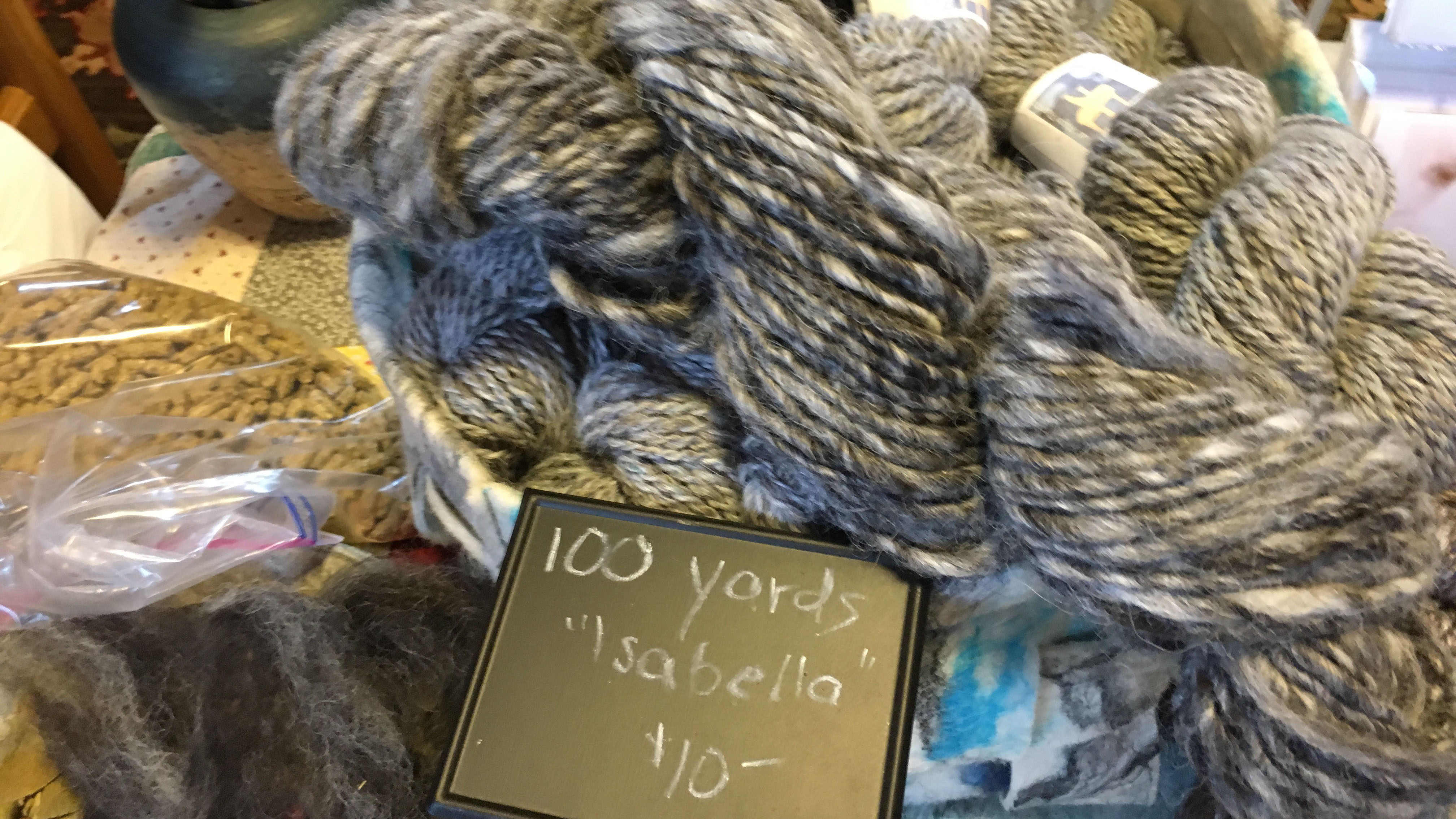 Many of the yarns are named after the alpaca the fleece came from.
