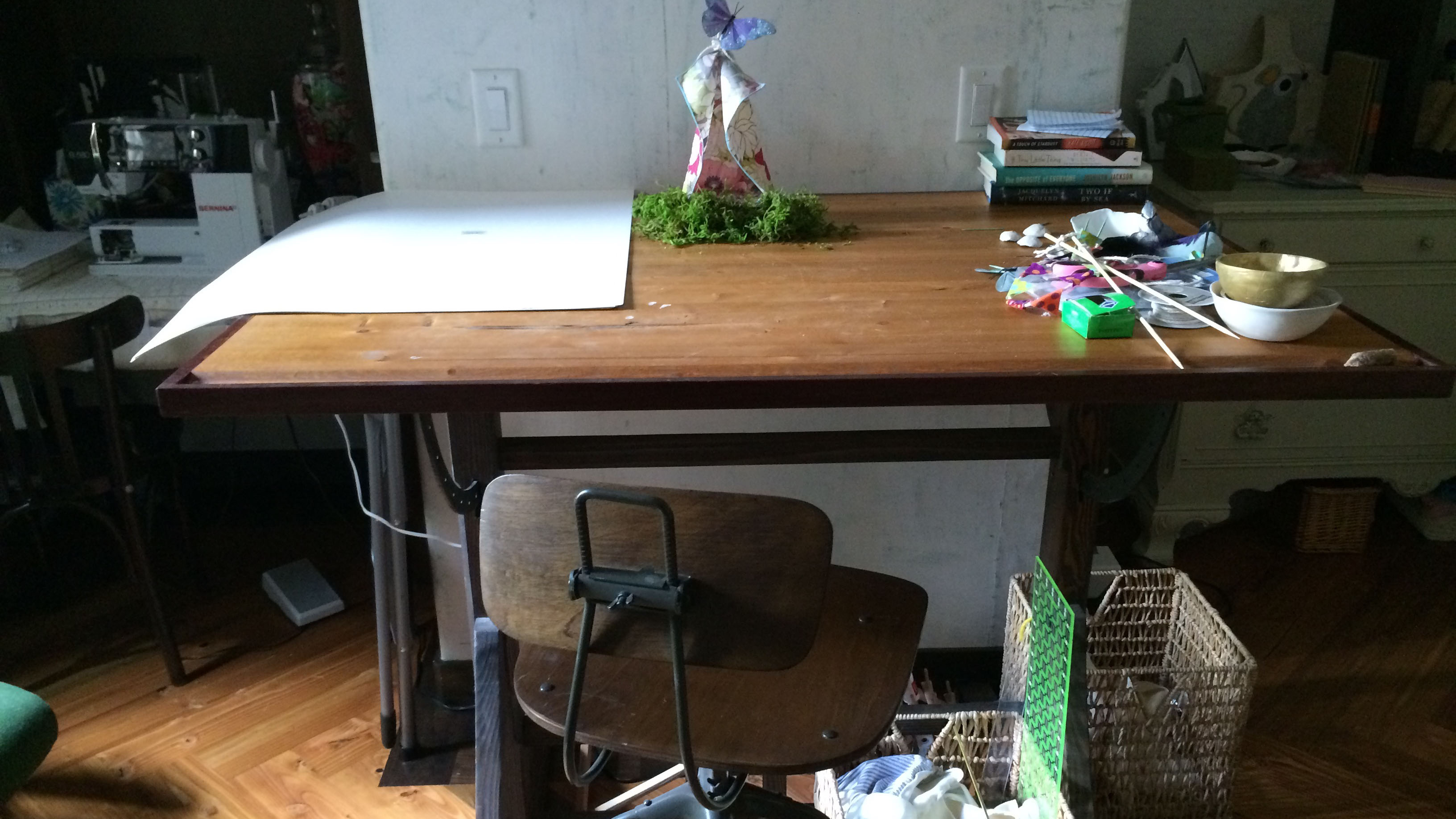 I already had the perfect sewing table. I just needed to put it in the right spot.