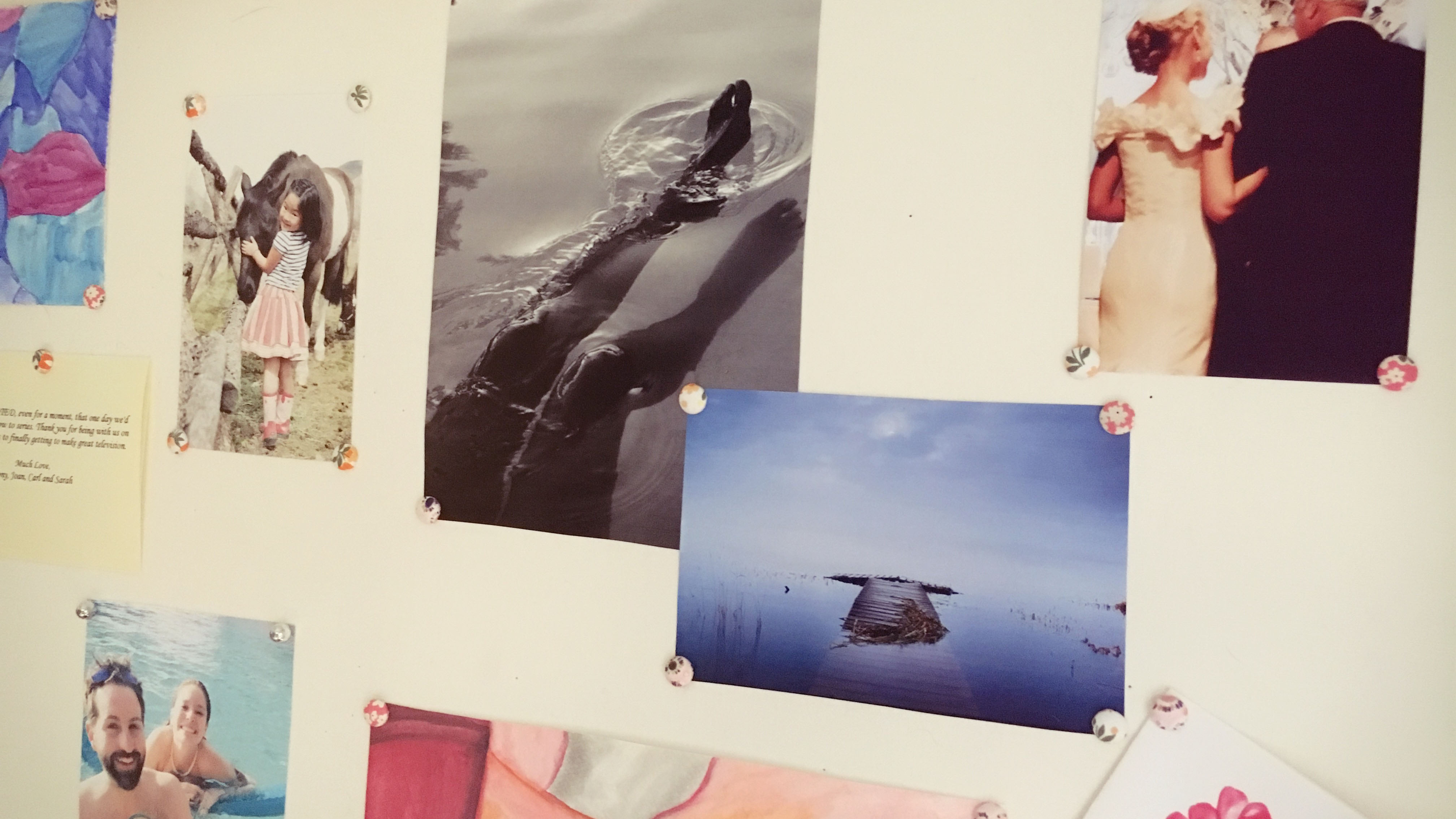 I wanted to include some tranquil water images among the family photos to inspire inner peace and serenity.