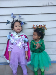 Naleigh and Adalaide Celebrating Halloween