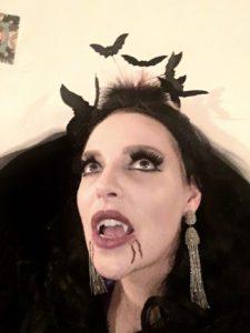 Katherine Heigl - Halloween vampire showing her fangs