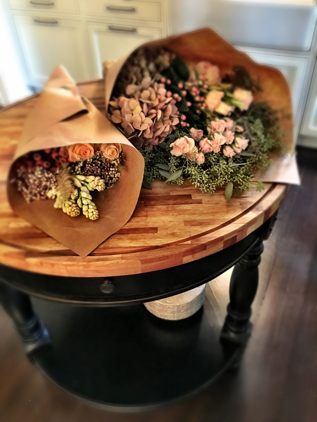 Gorgeous paper wrapped flowers from my local florist.