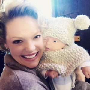 Katherine Heigl and baby Joshua Jr.