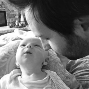 Josh Kelley and baby Joshua Jr.