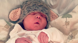 This little lamb crochet hat my mother made is probably the cutest thing ever! Aside from the baby of course!