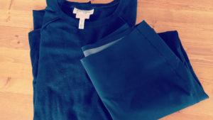 My favorite Jessica Simpson nursing top and Spanx high waist leggings. Both in slimming black!