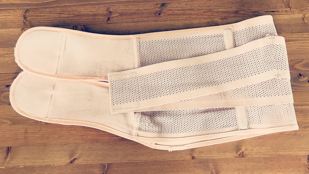 This compression belt isn't all that pretty but it is incredibly effective!