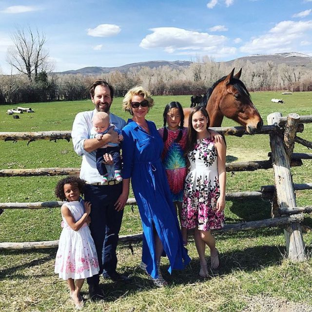 Family Easter pic photo bombed by my horse Bellaco! Hopehellip