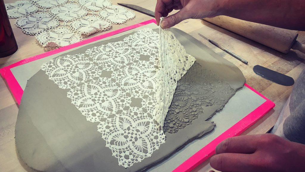 As I carefully peeled back the lace I was thrilled to see how perfectly the pattern turned out.