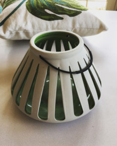 I love the hint of green inside these beautiful clay lanterns.