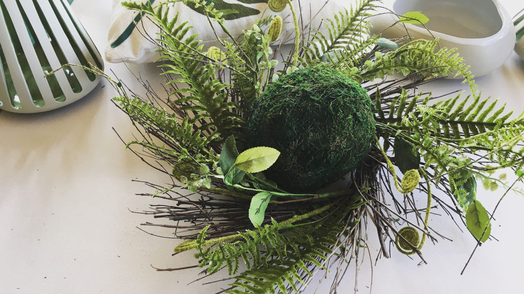 I love how real these faux fern wreaths look. Sometimes the faux versions can look too much like plastic to me.