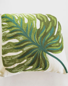 Spring green throw pillow from World Market.