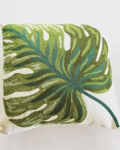 Spring green throw pillow from World Market.