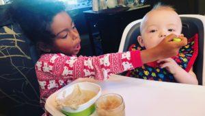 Adalaide feeding Joshua Jr.
