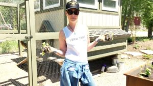Katherine Heigl ready to start planting.