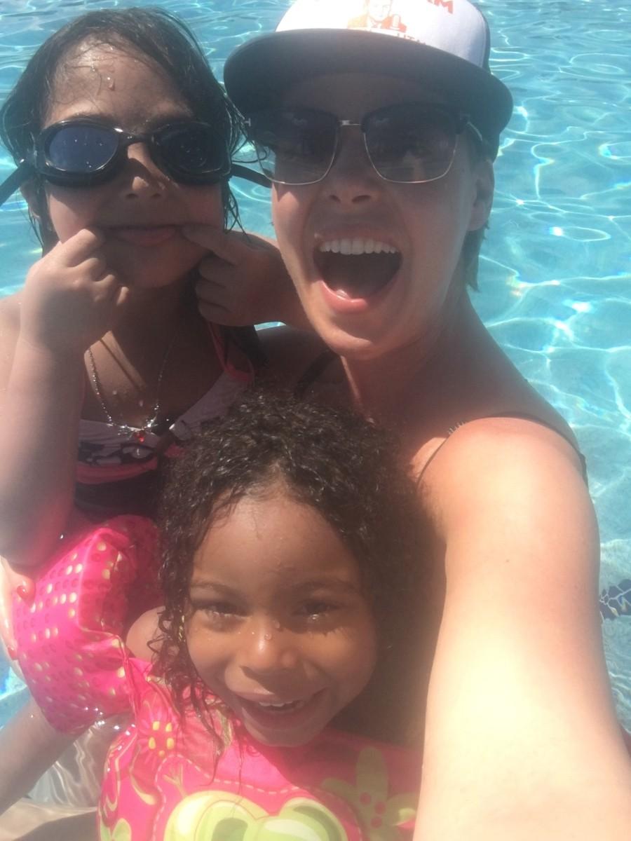 Fun in the sun with my girls!