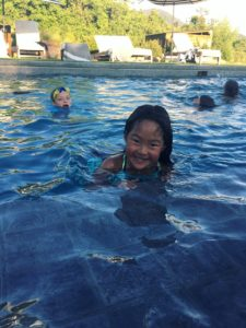 Naleigh and friends in the pool