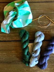 I couldn't resist choosing three different colors for the linen baby vest. Now I just have to start knitting!