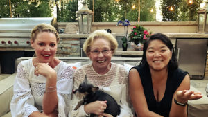 Katherine Heigl, Nancy Heigl and Meg Heigl-Beltran