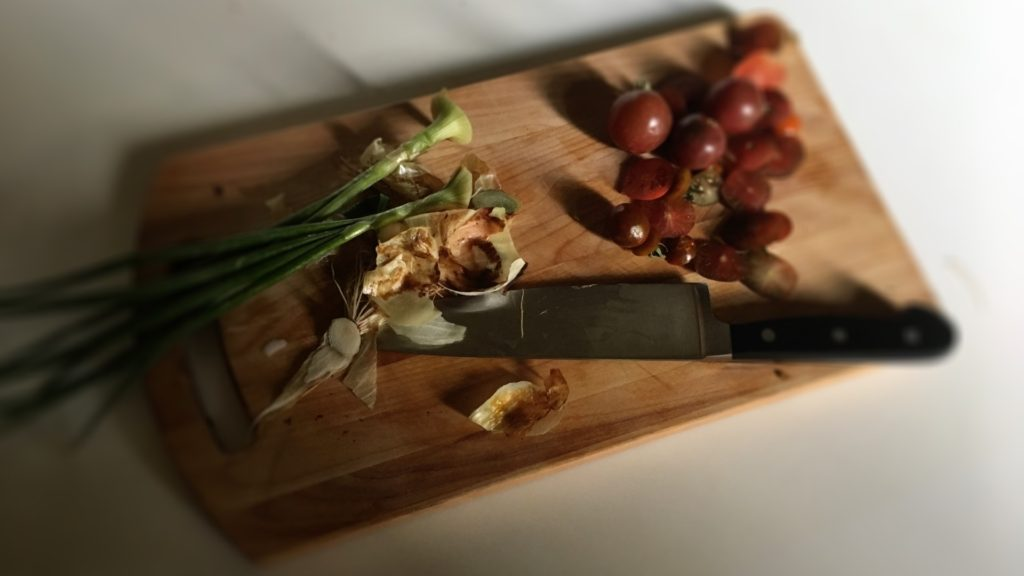 Ingredients on a chopping board