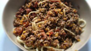 Late harvest tomato spaghetti