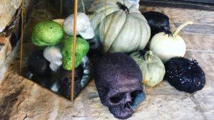 Glitter skulls, pumpkins and spiders