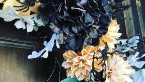 Spooky wreath with creepy crawlies