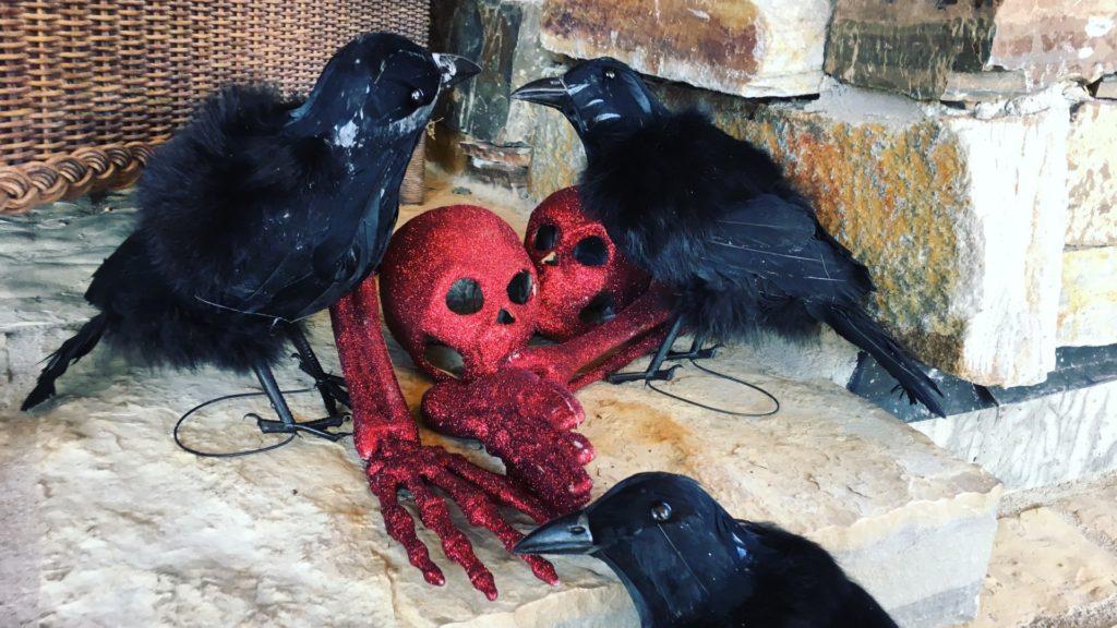 Ravens, skulls and bones