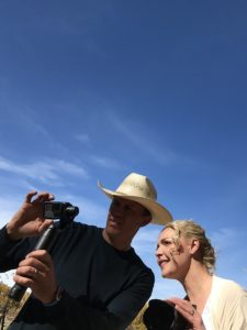 Katherine Heigl and friend Jeremy shooting the video for Josh Kelley's I'm On Fire