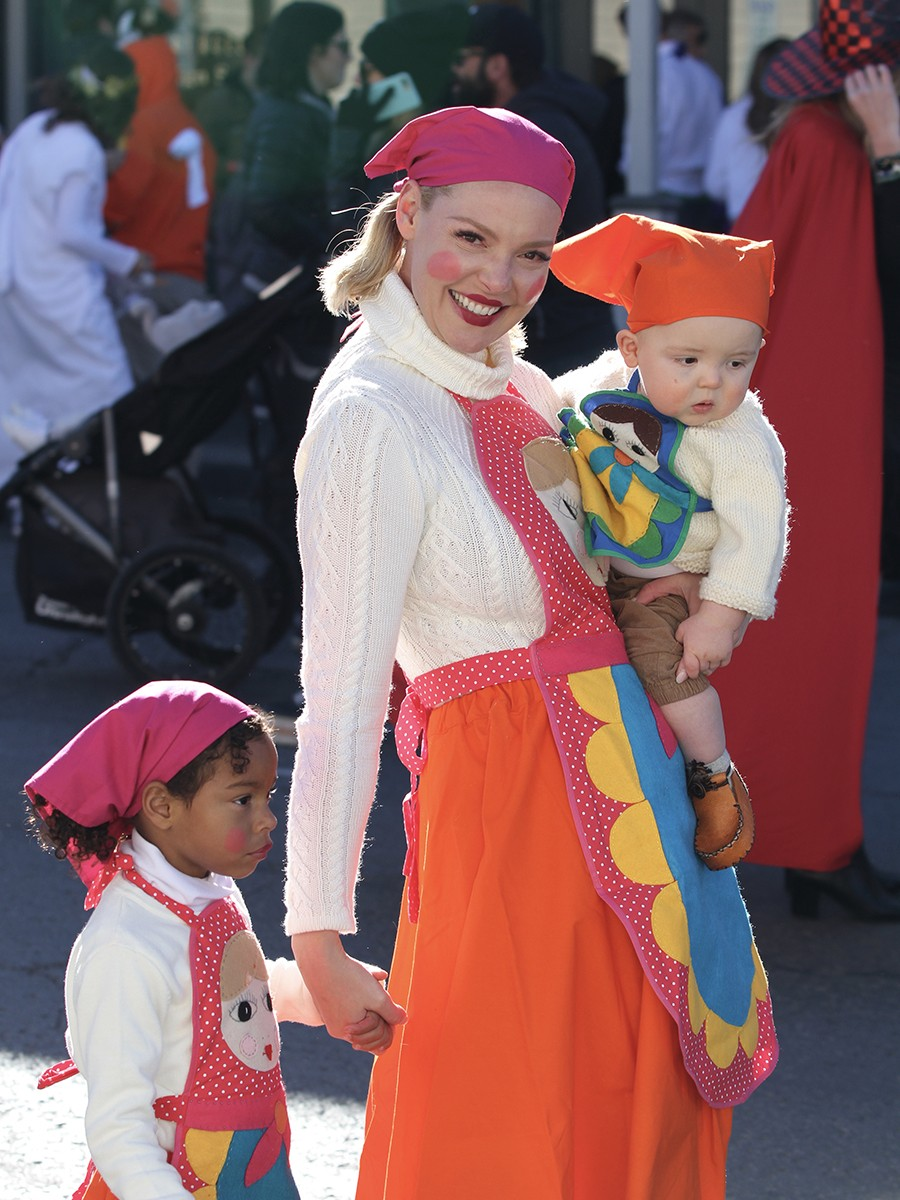 Katherine Heigl, Adalaide and Josh Jr. at Halloween