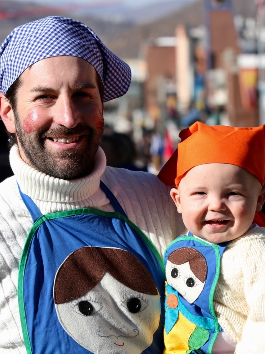 Josh Kelley and Josh Jr. at Halloween