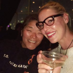Katherine Heigl celebrating her birthday in New York with her sister Meg