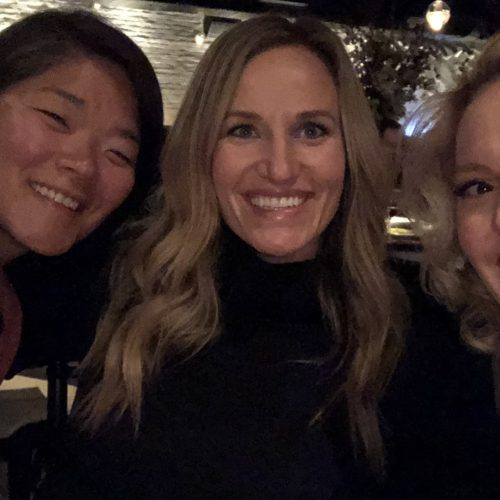 Katherine Heigl celebrating her birthday with friends and family