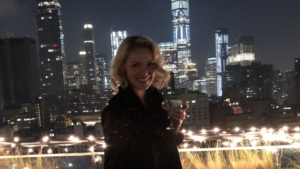 Katherine Heigl celebrating her birthday in New York City